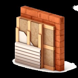 Система утепления фасада с применением сайдинга