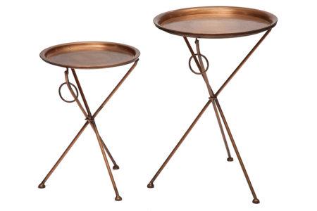 Набор металлических столиков
